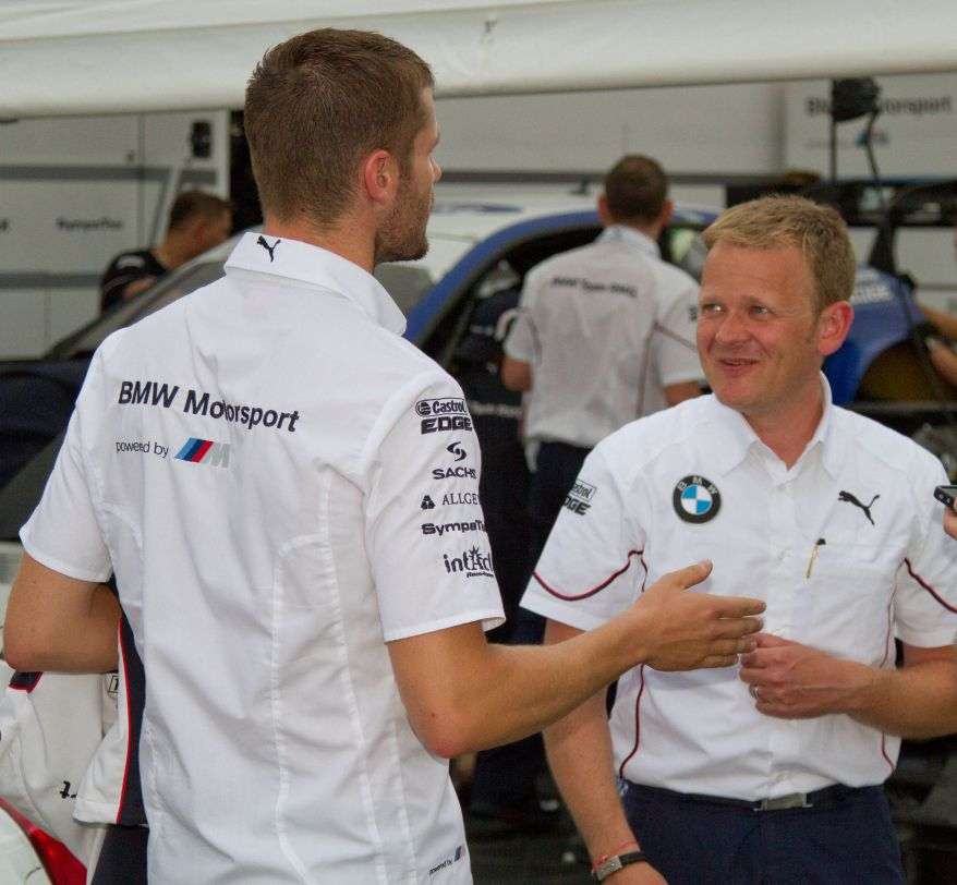 BMW-Teamchef Stefan Reinhold,re, mit seinem Schützling Martin Tomczyk ©Erich Hirsch