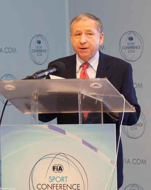 FIA-Präsident jean Todt eröffnet mit einer Rede die FIA Sportkonferenz München 2014 (c)Erich Hirsch