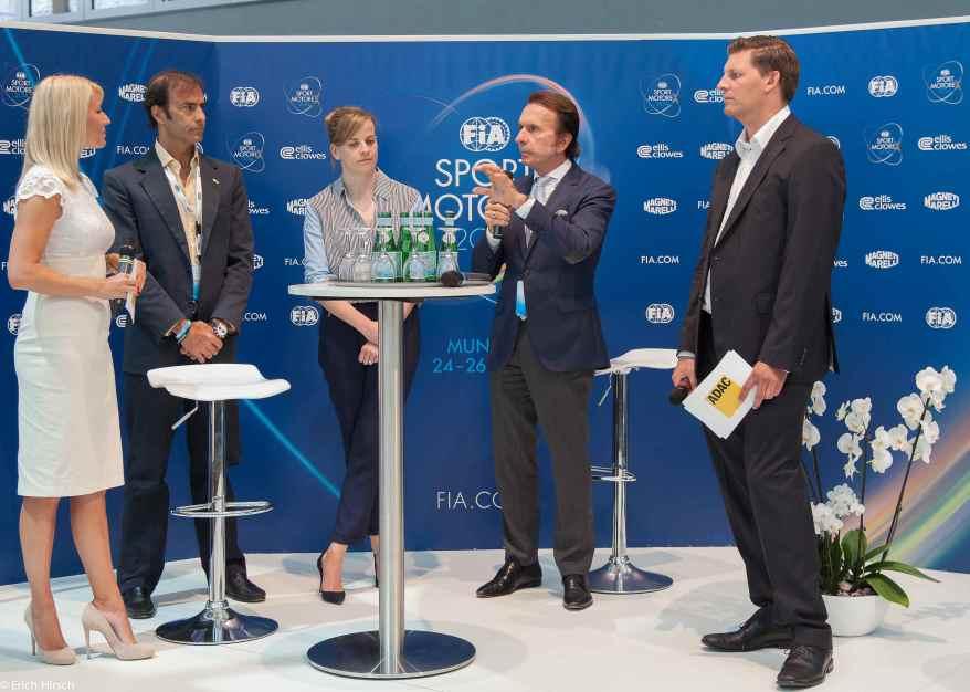 FIA Sportkonferenz München mit Emanuelle Pirro,Susie Wolff und Emerson Fittipaldi (c)Erich Hirsch