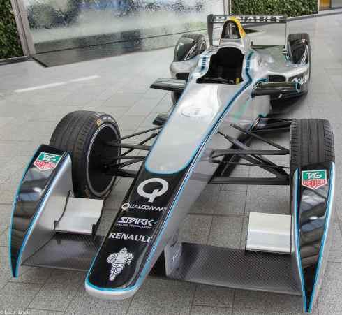 Formel-E-Bolide bei der FIA Sportkonferenz München 2014(c)Erich Hirsch