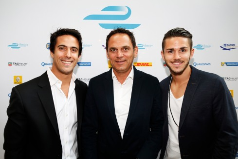 Das Audi Abt Sport Team Di Grassi,Teamchef Abt und daniel Abt (c)formula e