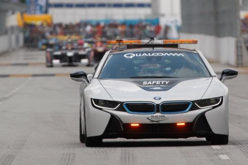BMW i8 bei der Formel E (c)BMW