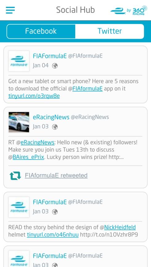 Formel E App iOS (c)Hersteller