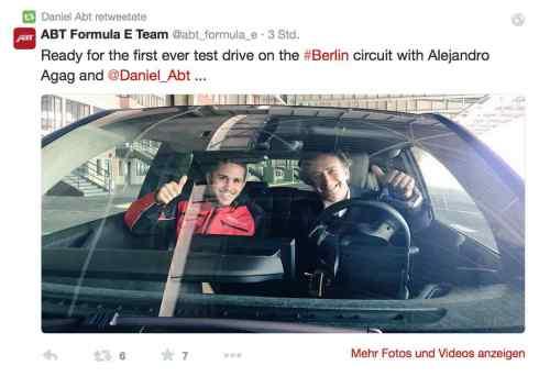 Daniel Abt und Alejandro Agag in Berlin (c)Abt/Twitter