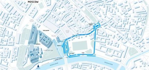 The proposed circuit layout for the 2015 Formula E Moscow ePrix (c)Formula E