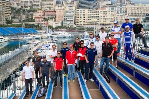 Formel E Piloten in Monaco auf der Haupttribüne (c)FIAformulaE