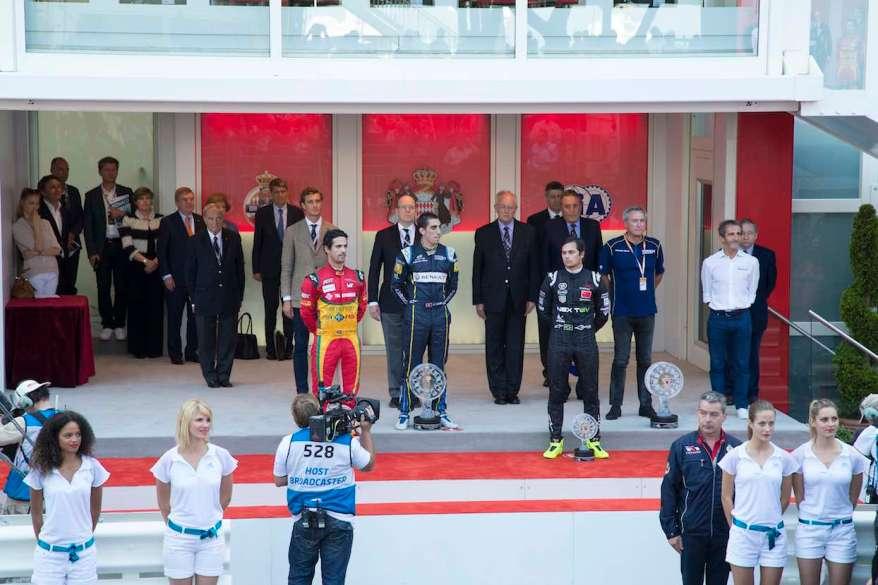 Monaco ePrix die ersten Drei (c)FIAformulaE