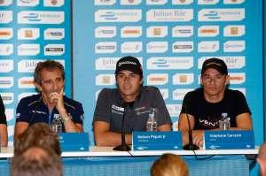 Prost, Piquet jun. und Sarrazin auf der Pressekonferenz (c)FIAformulaE