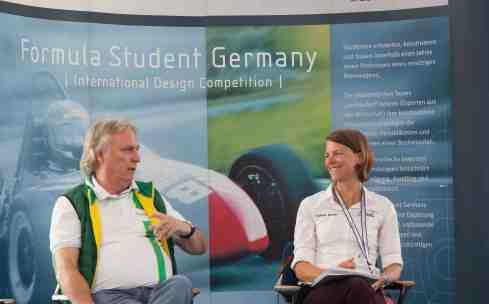 Schaeffler Technologie-Vorstand Prof. Dr. Peter Gutzmer und Caroline Becker,vdi auf der FSG 2015 (c)Erich Hirschbecker bei der PRK._1jpg