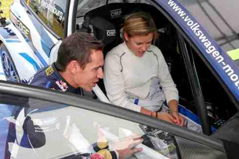 Julien Ingrassia, Viktoria Rebensburg VW Rally Track Test (c)VW