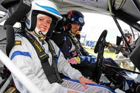 Sébastien Ogier, Viktoria Rebensburg Volkswagen Polo R WRC (c)VW