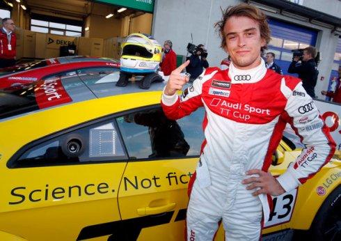 Audi Sport TT Cup Oschersleben 2015, Sieger Jan Kisiel (c)Audi