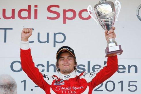 Jan Kisiel aus Polen gewinnt Rennen 2 in Oschersleben (c)Audi
