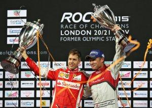Vettel und Kristensen beim ROC in London (c)Audi