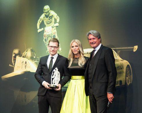 Andreas Seidl (Porsche),Julia Josten (Moderatorin),Hermann Tomczyk (ADAC-Motorsportpräsident), (c)Erich Hirsch