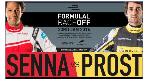 Senna gegen Prost im eSport (c)FIAformulaE