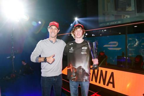 Senna und Sieger Scholes(c)FIAformulaE