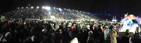 16.000 Zuschauer beim Red Bull_Crashed Ice im Olmypiapark (c)Erich Hirsch