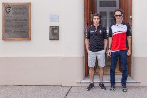 d'Ambrosio und Senna im Fangio Museum(c)FIAformulaE