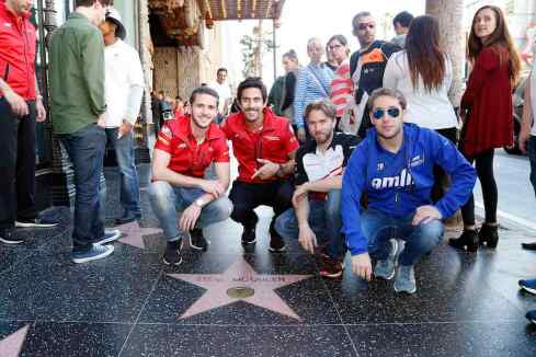 Walk of fame mit der Formel E (c)Abt