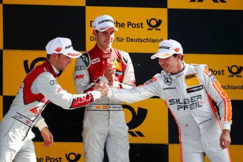 Siegerpodest Lausitzring (c)DTM