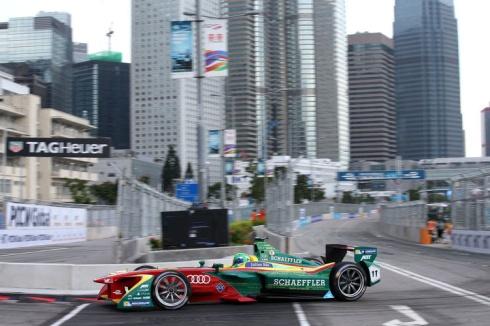 Lucas di Grassi in Hongkong (c)Audi