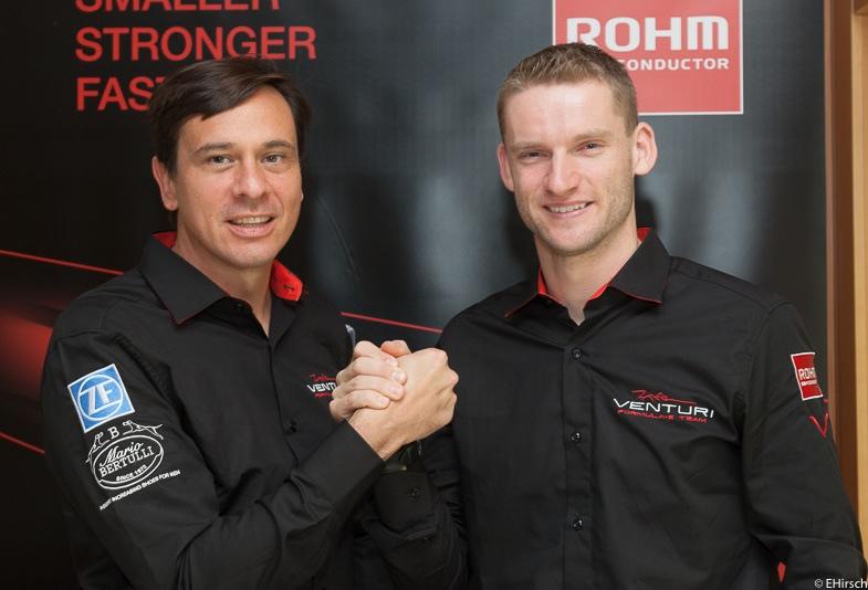 Franck Baldet und Maro Engel vom Venturi Team (c)EHirsch