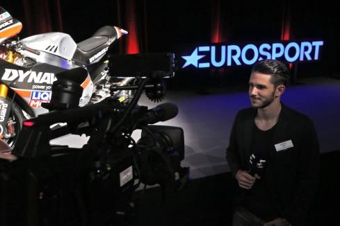 Daniel Abt bei Eurosport(c)Eurosport Motorsport Launch