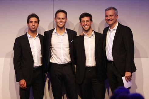 BMW Motorsport Season Review 2017, Line-up 2018, António Félix da Costa (POR), Tom Blomqvist (GBR), Alexander Sims (GBR) and Jens Marquardt (GER) BMW Motorsport Director.(c)BMW