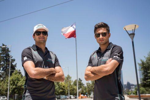 Nelson Piquet und Mitch Evans(c)Jaguar