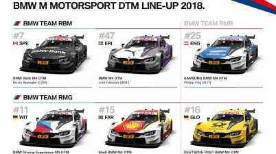 BMW DTM 2018 Line-Up(c)BMW