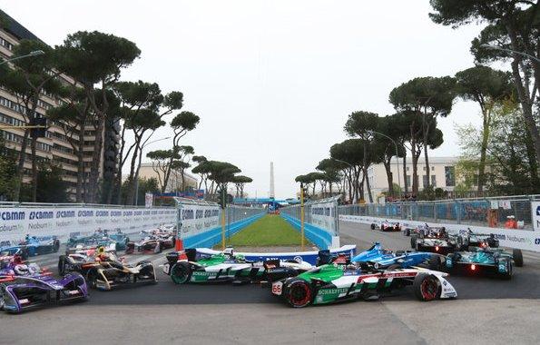 Audi e-tron FE04 #1 (Audi Sport ABT Schaeffler), Lucas di Grassi, Audi e-tron FE04 #66 (Audi Sport ABT Schaeffler), Daniel Abt,Formula E, Rome E-Prix 2018 (c)Audi