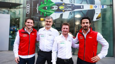 Daniel Abt, Dieter Gass, Allan McNish, Lucas di Grassi,Formula E, Paris E-Prix 2018 (c)Audi
