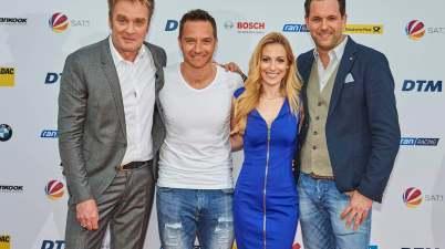 ran racing Team 2018 Edgar Mielke, Timo Schneider ( Rennfahrer und Experte ) , Andrea Kaiser, Matthias Killing (c)DTM