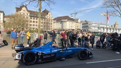 Sebastien Buemi in Zürich(c)Swiss EPrix via Twitter