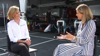 Susie Wolff im Interview(c)CNN Supercharged