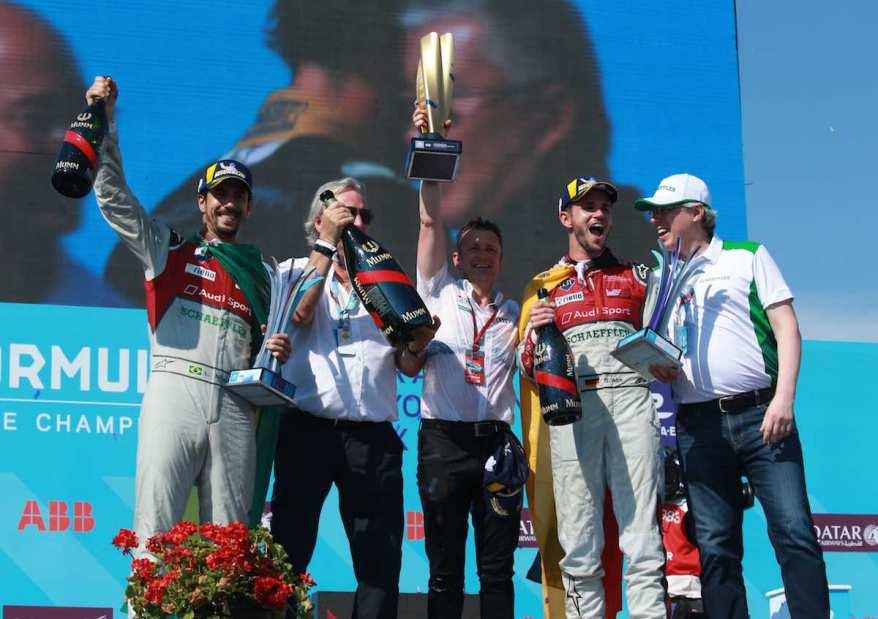 Lucas di Grassi, Prof. Dr. Peter Gutzmer, Allen McNish,Daniel Abt, Georg Friedrich Wilhelm Schaeffler,Formula E, New York E-Prix 2018 (c)Audi