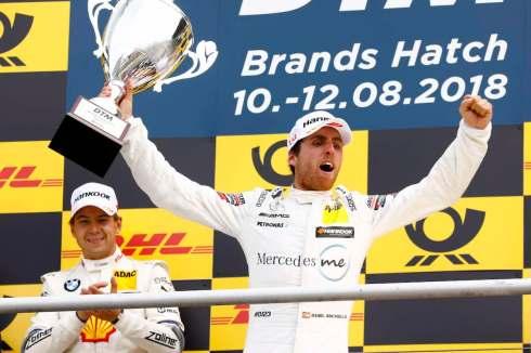 Juncadella feiert Premierensiegt in Brands Hatch 2018 (c)DTM