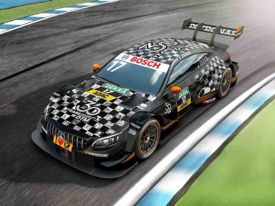 DTM, Mercedes-AMG Motorsport DTM Team, Sébastien Ogier DTM, Mercedes-AMG Motorsport DTM Team, Sébastien Ogier,Perspektive_01_DTM_C205_2018_Gastfahrzeug_30Jahre (c)Mercedes