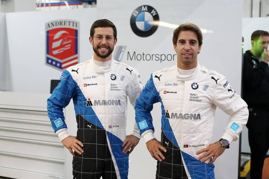 Sims und Felix da Costa in Valencia (c)BMW