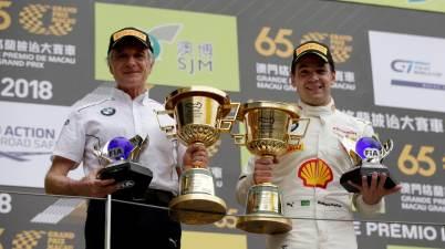 Macau (CHN) 18th November 2018. BMW M Motorsport, FIA-GT World Cup, Charly Lamm (GER) Team principal BMW Team Schnitzer, #42 BMW Team Schnitzer (GER) BMW M6 GT3, Augusto Farfus (BRA)(c)BMW