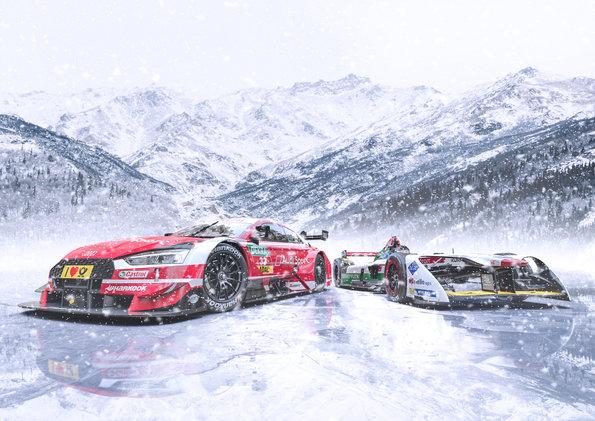 Audi RS 5 DTM, Audi e-tron FE04,GP Ice Race 2019: Audi RS 5 DTM, Audi e-tron FE04 (c)Audi