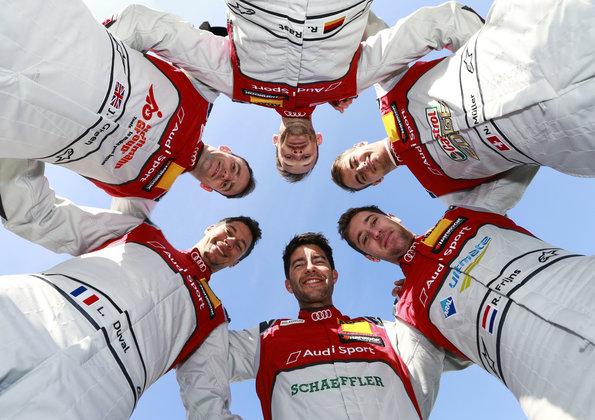 Mike Rockenfeller, Loïc Duval, René Rast, Jamie Green, Nico Müller, Robin Frijns, (c)Audi