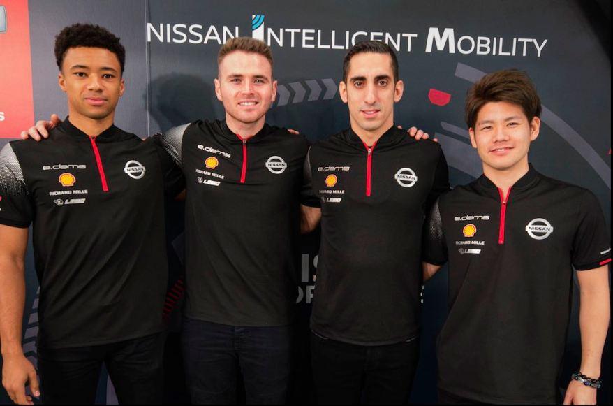 Nissan Fahrer Line-Up (c)Nissan