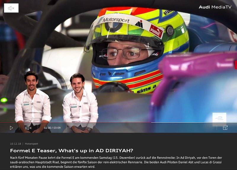 Teaser Audi Formel E (c)Audi
