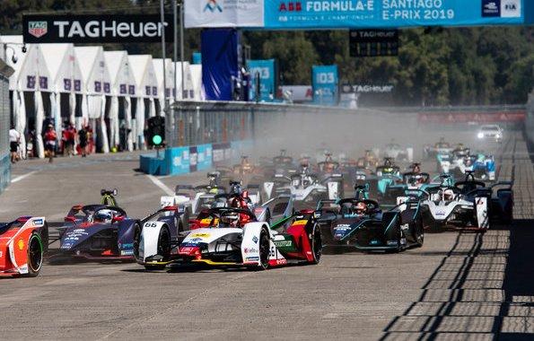 Audi e-tron FE05 #66 (Audi Sport ABT Schaeffler), Daniel Abt,Formula E, Santiago E-Prix 2019 (c)Audi