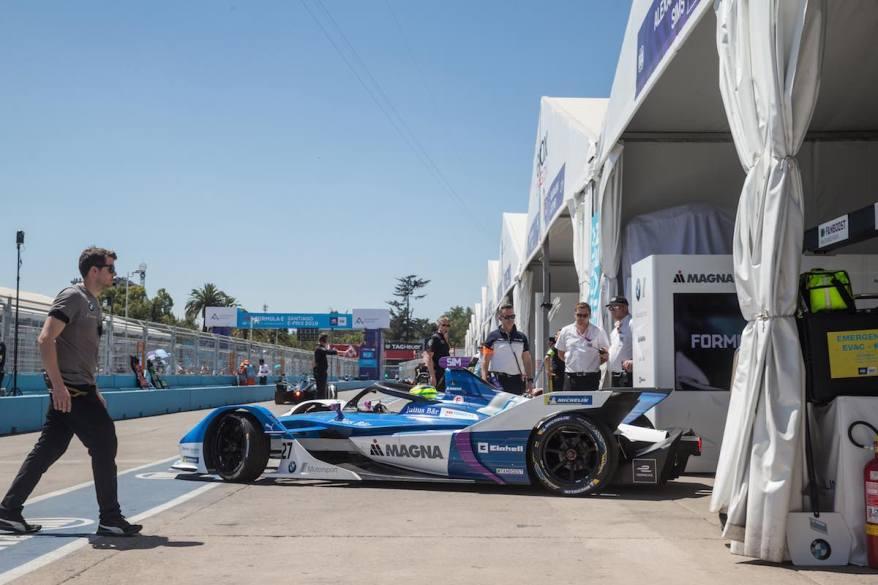 Formel E Santiago de Chile Alexander Sims im BMW iFE.18 (c)BMW
