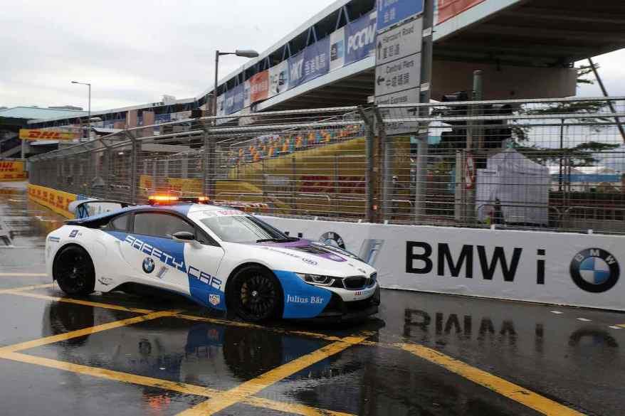 BMW i8 Safety Car in Hongkong (c)BMW
