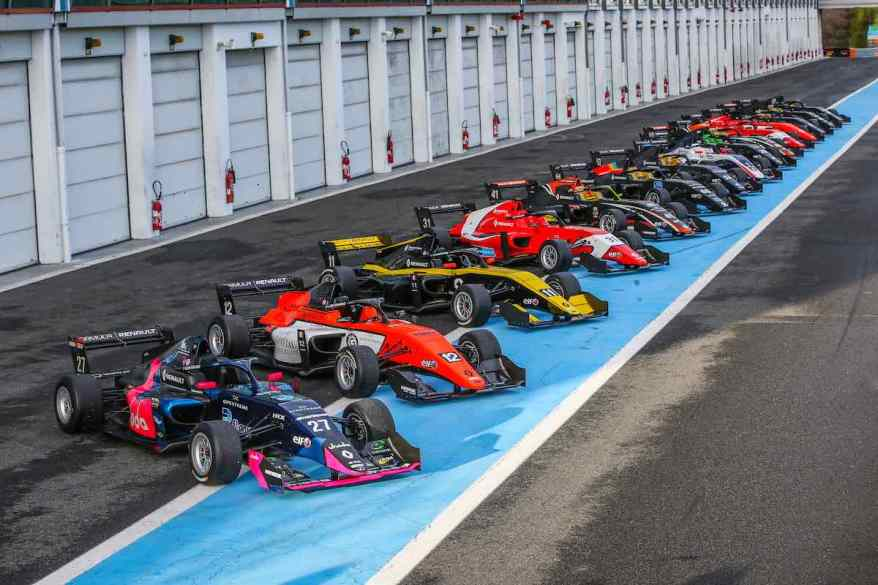 2019 CARS GROUP SHOT during the winter tests Formule Renault Eurocup at Magny cours, March 5 to 7, 2019 (c) - Photo Jean Michel Le Meur / DPPI