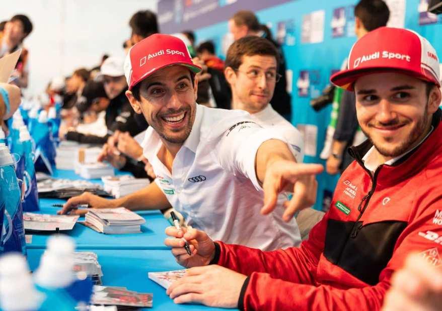 Lucas di Grassi, Daniel Abt,Formula E, Hong Kong E-Prix 2019 (c)Audi